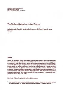 The Welfare States in a United Europe