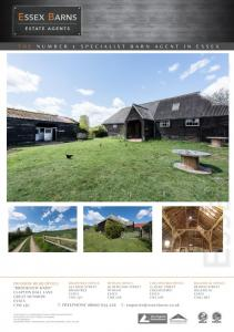 The West Barn & The Old Farm Stables, Barwick, High Cross, Ware FOR SALE Barn & Stables for Conversion - OIEO 525,000