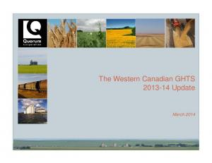 The Western Canadian GHTS Update. March 2014