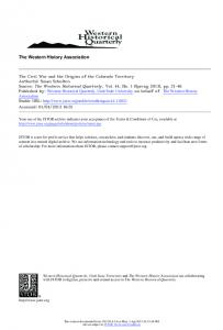 The Western History Association