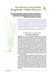 The Western United States Rangelands: A Major Resource