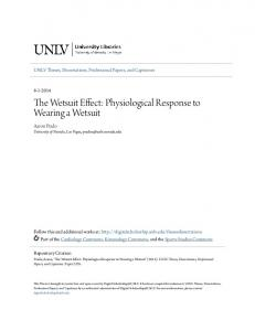The Wetsuit Effect: Physiological Response to Wearing a Wetsuit