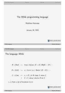 The While programming language