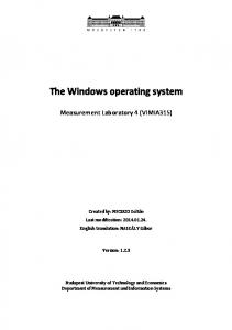 The Windows operating system