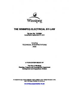 THE WINNIPEG ELECTRICAL BY-LAW