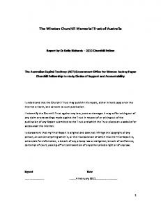 The Winston Churchill Memorial Trust of Australia