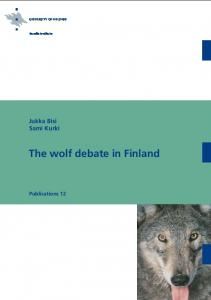 The wolf debate in Finland