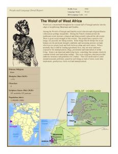 The Wolof of West Africa