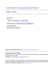 The Woman and the Women of Sherlock Holmes