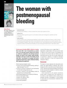The woman with postmenopausal bleeding