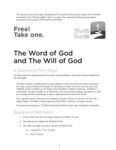 The Word of God and The Will of God