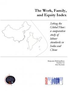 The Work, Family, and Equity Index