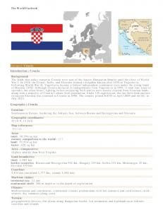 The World Factbook. Europe :: Croatia Introduction :: Croatia