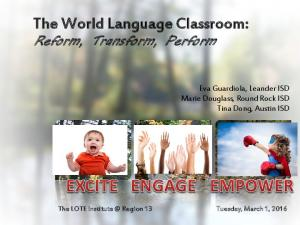 The World Language Classroom:
