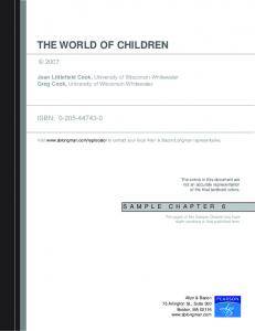 THE WORLD OF CHILDREN