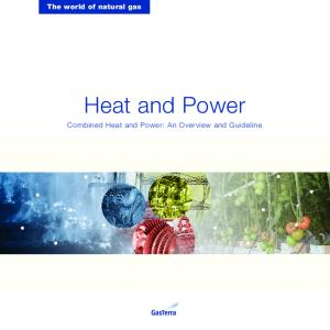 The world of natural gas. Heat and Power. Combined Heat and Power: An Overview and Guideline