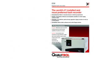 The world s #1 installed and most preferred fault recorder