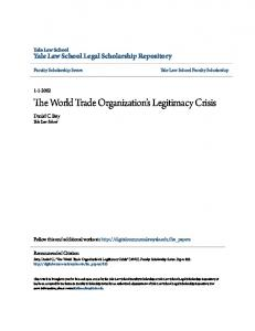 The World Trade Organization s Legitimacy Crisis
