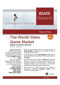 The World Video Game Market
