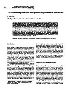 The worldwide prevalence and epidemiology of erectile dysfunction