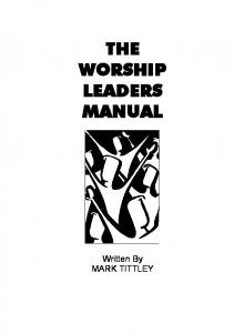 THE WORSHIP LEADERS MANUAL