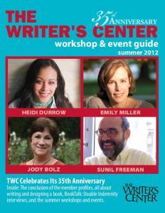 the Writer's Center TWC Celebrates Its 35th Anniversary
