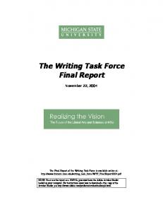 The Writing Task Force Final Report