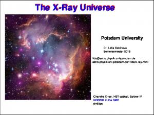The X-Ray Universe. The X-Ray Universe