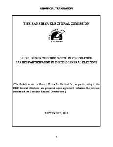 THE ZANZIBAR ELECTORAL COMISSION