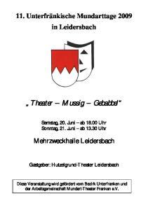 Theater Mussig Gebabbel