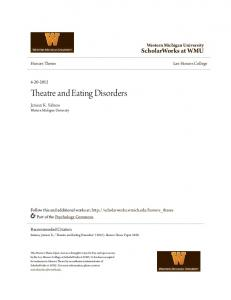 Theatre and Eating Disorders
