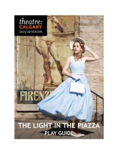 Theatre Calgary s Play Guides and Interactive Learning Program are made possible by the support of our sponsors:
