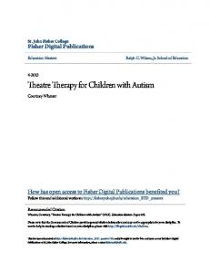 Theatre Therapy for Children with Autism