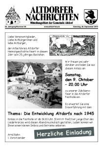 Thema: Die Entwicklung Altdorfs nach 1945