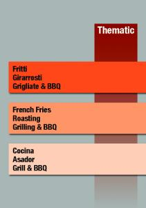 Thematic. Fritti Girarrosti Grigliate & BBQ. French Fries Roasting Grilling & BBQ. Cocina Asador Grill & BBQ