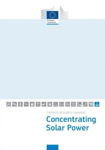THEMATIC RESEARCH SUMMARY Concentrating Solar Power