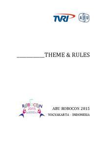 THEME & RULES ABU ROBOCON 2015 YOGYAKARTA INDONESIA
