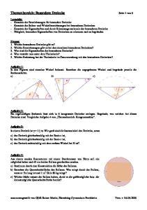 Themenbereich: Besondere Dreiecke Seite 1 von 6