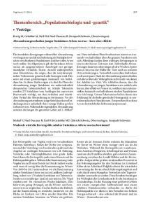 Themenbereich Populationsbiologie und -genetik