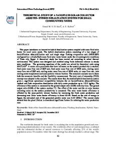 THEORETICAL STUDY OF A NANOFLUID SOLAR COLLECTOR ASSISTED- HYBRID DESALINATION SYSTEM FOR SMALL COMMUNITIES NEEDS