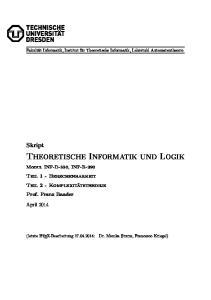 Theoretische Informatik und Logik