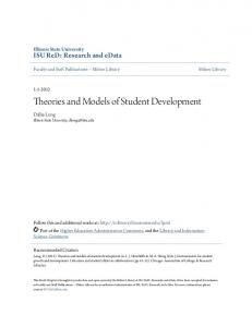 Theories and Models of Student Development