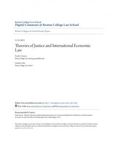 Theories of Justice and International Economic Law