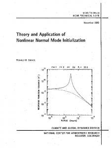 Theory and Application of Nonlinear Normal Mode Initialization