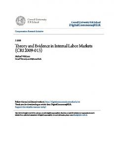 Theory and Evidence in Internal Labor Markets (CRI )