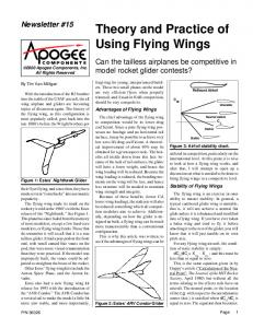 Theory and Practice of Using Flying Wings