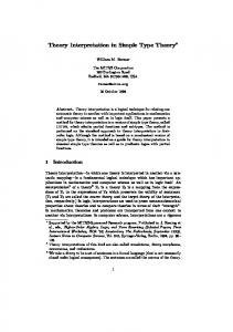 Theory Interpretation in Simple Type Theory