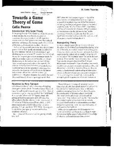 Theory of Game Celia Pearce