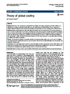 Theory of global cooling