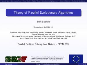 Theory of Parallel Evolutionary Algorithms
